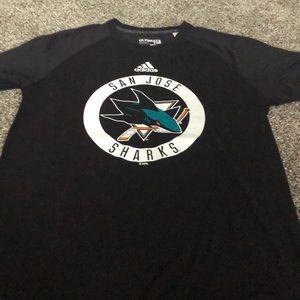 Adidas San Jose Sharks shirt sleeve t shirt